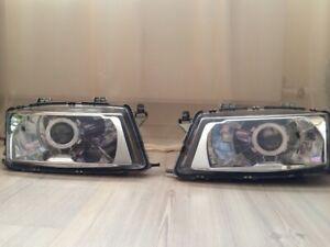 SAAB 900 &TURBO Left 94 95 96 97 98 Headlight Covers for retrofit, pair.