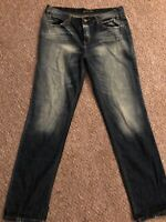 London Jean Boot Cut Faded Distressed Womens Size 8