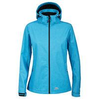 Trespass Paulina Womens Blue Softshell Jacket Hooded Windproof Ladies Coat