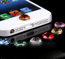 6 X Home Button Crystal Paster Sticker for iPhone 4S 5C 5S 3GS pad Mini 3 2