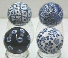"(4) Chinese Blue & White Porcelain Decorative Balls 3"" NEW"