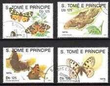 Papillons St Thomas et prince (20) série complète de 4 timbres oblitérés