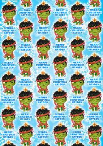 INCREDIBLE HULK Personalised Christmas Gift Wrap - Hulk Wrapping Paper