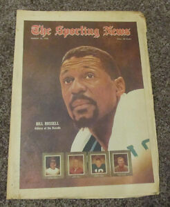 March 14, 1970 The Sporting News NBA Basketball Bill Russell Boston Celtics