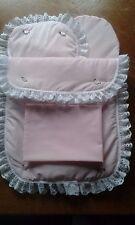 Quilt Pillow Sheet and Mattress for Silver Cross Roamer/Surf Dolls Pram Pink
