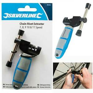 Silverline Bicycle Chain Rivet Extractor for Shimano HG and UG Chains Bike Tools