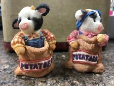 Enseco 1994 Cow Figurines - Mary Moo's