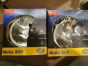 Pair of 2 HELLA 500 Series fog light lamp