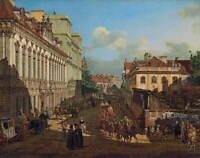 Bernardo Bellotto Miodowa Street Poster Reproduction Giclee Canvas Print