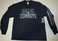 New with tags Dallas Cowboys NFL Football Long Sleeve t-shirt men's XL NWT navy