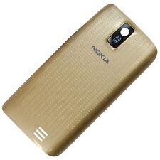 Nokia ASHA 308 310 COVER POSTERIORE ORIGINALE ORO BATTERIA-COPERCHIO COVER BATTERIA COPERCHIO scomparto