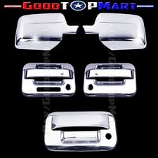 For Ford F150 2004-2008 Chrome Covers Set Full Mirrors+2 Doors KEYPAD+Tailgate K