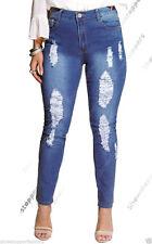 Damen-Jeans im Jeggings -/Stretch-Stil aus Denim mit mittlerer Bundhöhe