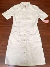 Koi By Kathy Peterson Scrubs Alexandra White Dress Size Small Nwt