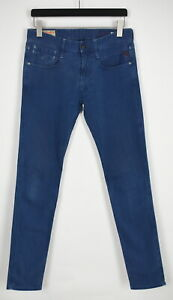 Replay Anbass M914 Homme W31/L34 Extensible Bleu Coupe Skinny Jean 36736-GS