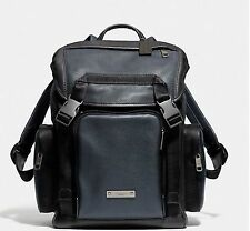NWT Coach Thompson Backpack In Colorblock Leather Navy Black F71317