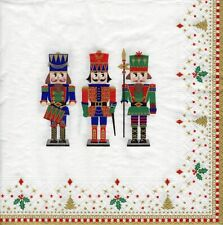 4x PAPER NAPKINS for Decoupage CHRISTMAS NUTCRACKER