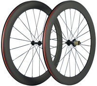 60mm Clincher Bicycle Wheels Front+Rear Road Bike Wheelset 700C Shimano/Campay