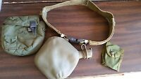 US Army LARGE BELT with 2 QT. CANTEEN,POUCH and FIRST AID POUCH