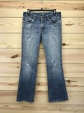 7 for all mankind Womens Jeans Size 28 A Pocket Flare Distressed Light Wash B78