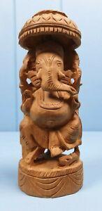 GANESH ELEPHANT INDIAN HINDU DO DEITY WOOD CARVING VINTAGE