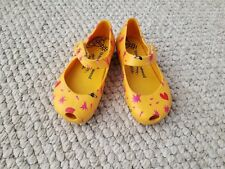 Mini Melissa Vivienne Westwood Anglomania Mary Jane Shoes Yellow size 8 Toddler