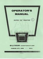 Oliver Super 55 Tractor Instruction Operators Manual