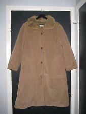 True Vintage BONNIE CASHIN Leather Trim (Faux?) Fur Jacket Coat Women's 14 USED