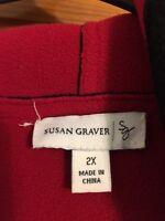 Women's Hooded Winter Coat By Susan Graver Size 2x