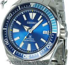 SEIKO PROSPEX SAMURAI BLUE LAGOON  LIMITED EDITION With STEEL BRACELET SRPB09J1