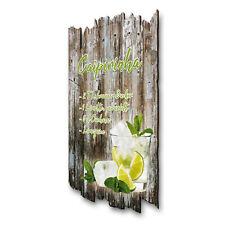 Caipirinha Cocktail Schild Rezept Shabby aus Holz Wand-Deko für Zuhause 30x20