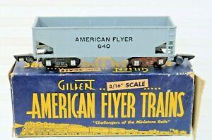 American Flyer 640 Hopper Car Type ll Link Couplings 1949-53 Gray w/Black Letter