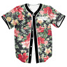 Floral Leaf Mens Baseball Tee Jersey Team Sports Raglan T-Shirts Button Casual