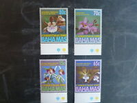 2000 BAHAMAS CHRISTMAS SET OF 4 ORCHID MINT STAMPS MNH