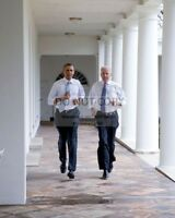 "BARACK OBAMA & JOE BIDEN DURING ""LET'S MOVE!"" TAPING - 8X10 PHOTO (ZY-546)"