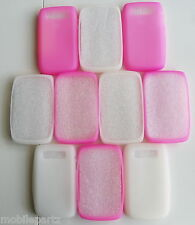 10 x Mixed White + Pink Silicone Skin Case Cover for BlackBerry Bold 9700 9780