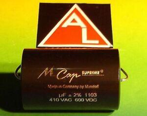 MUNDORF MCAP SUPREME 1,0 µf 800V HIGH END Capacitor for audio crossover