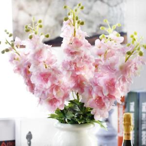 Pink Delphinium Fake Flowers Delphinium Hyacinth Artificial Flower 80cm 1 Branch