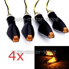 4X UNIVERSAL MOTORCYCLE 14 LED TURN SIGNALS INDICATOR LIGHT AMBER BLINKER 12V