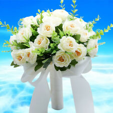 Artificial Satin New Brooch Wedding Bridal Bouquet Bride/Bridesmaid Hand Flower