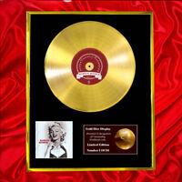 MARILYN MONROE CD GOLD DISC RECORD LP DISPLAY FREE P&P!