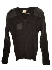 Brigade Quartermasters Sweater Mens Size 42 Black Ribed New Wool Made In England