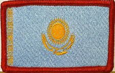 Kazakhstan Flag Patch With VELCRO® Brand Fastener ARMY EMBLEM Red Border