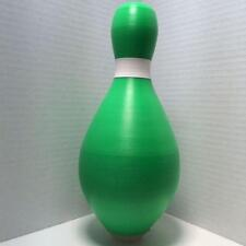 Duckpin Bowling Pin Colored Brand New Green Duckpin With White Neck Marker