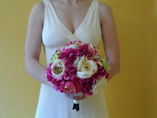 Blushing Bride Wine color Bridal Bouquet with Free Groom Boutonniere