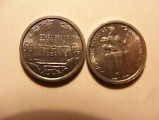 French Oceania 50 Centimes, 1949, Choice Uncirculated