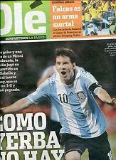 LIONEL MESSI Argentina 3 Uruguay 0 - Preliminaries World Cup 2014 Newspaper 2012