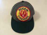 Ruger Hat Official Patch - Gray Wool Green Bill Buckle Strap 1 Size Fits All NEW