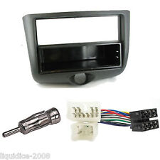 TOYOTA YARIS 2003 to 2005 SINGLE or DOUBLE DIN BLACK FASCIA FACIA ADAPTER  KIT
