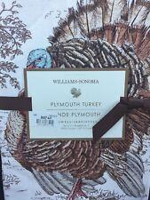 "NEW! WILLIAMS-SONOMA Plymouth Turkey SET/2 Tea Towels Kitchen 20 x 30"" Holiday"